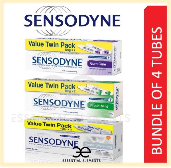 Buy [BUNDLE OF 4 TUBES] SENSODYNE TOOTHPASTE Repair And Protect | Whitening |Multi Action|Cool Gel Tooth Paste|Fresh Mint|Original Singapore