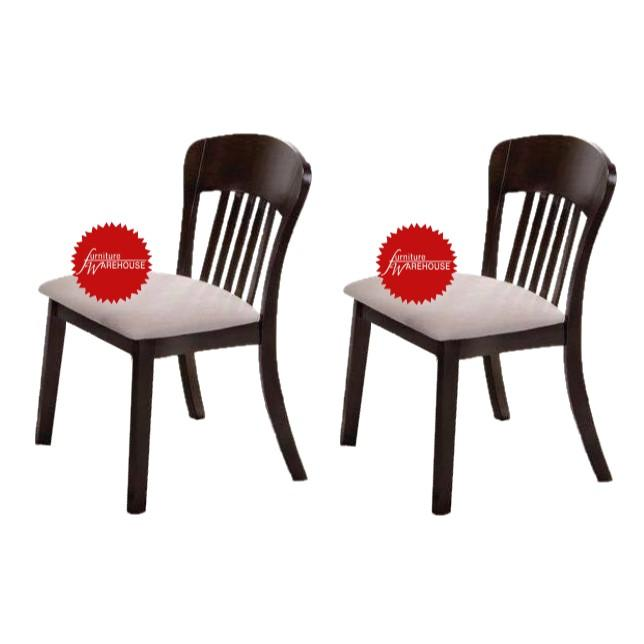 BUNDLE OF 2PCS - Shane Solid Wood Cushion Seat Dining Chair