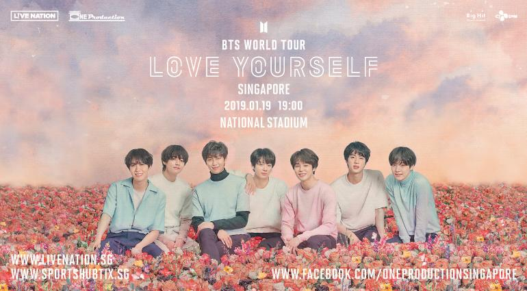 BTS Love Yourself Singapore Ticket