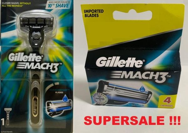 Buy Gillette Mach3 plus refill cartridges 4 pcs Singapore