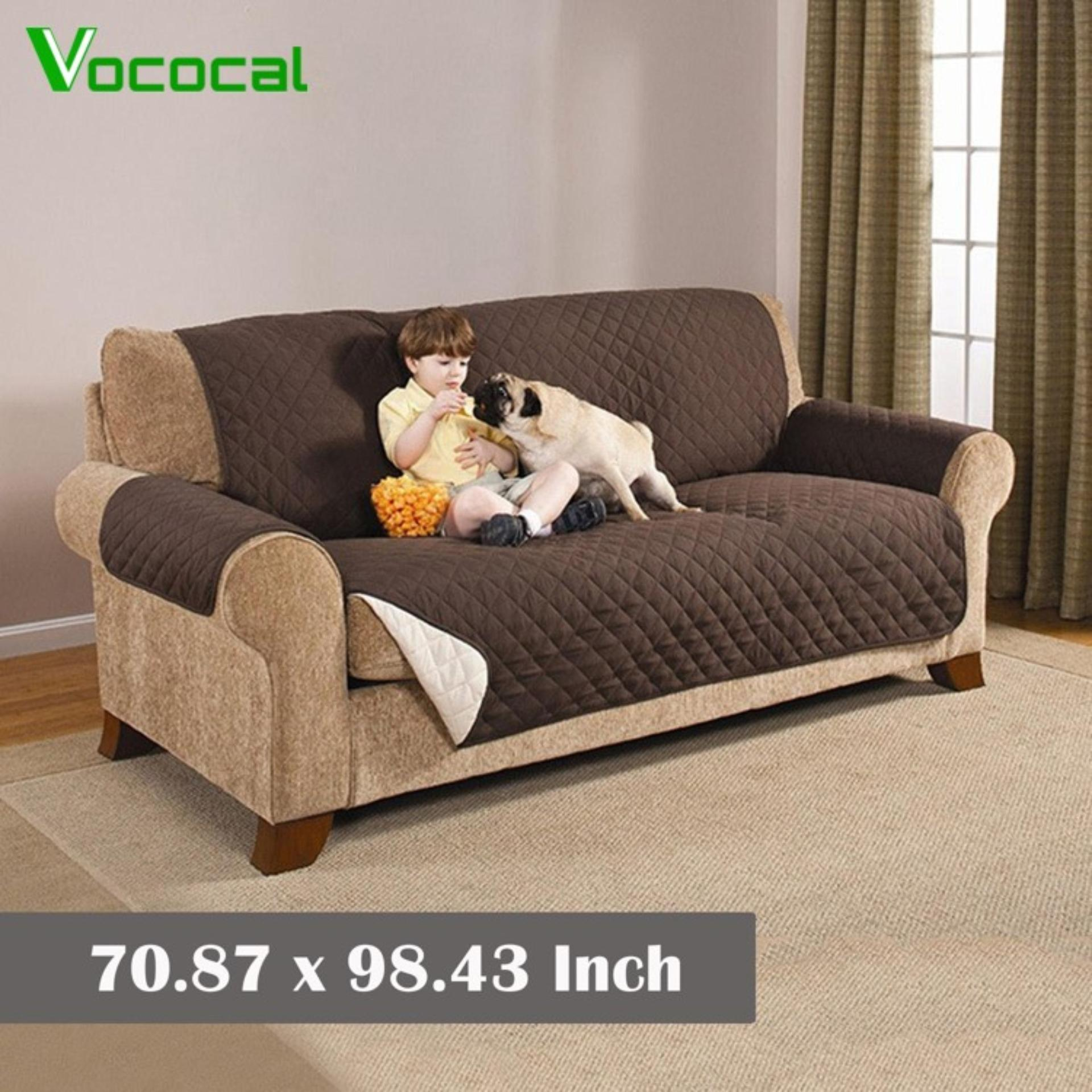 (in Stock)vococal Large Reversible Wear-Resistant Sofa Furniture Protector Cover Mat Pet Couch Coat Slipcovers-Intl By Vococal Shop.