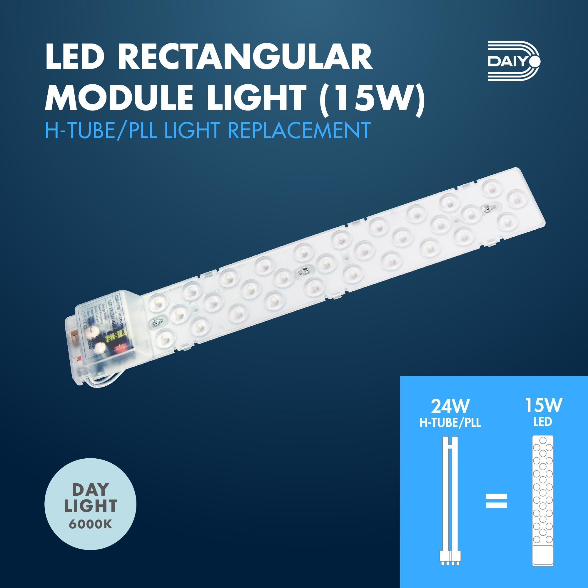 15W LED Rectangle Module Light (Day Light)