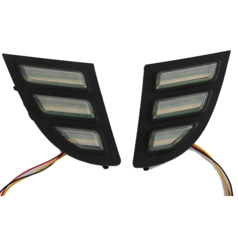 2PCS LED DRL Daytime Running Light with Turn Signal for Buick Regal GS Opel Insignia 2010-2015