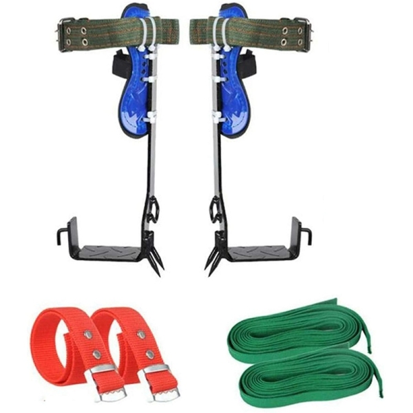 Mua 6-in-1 Tree Climbing Spike Set Climbing Nails Adjustable Safety Belt Lanyard 2 Gears Tree Climbing Spikes Camping Parts