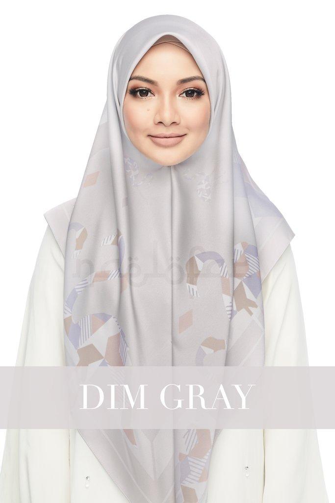 Flamingo* Naelofar Hijab Inspired* Satin Silk* Square* Elegant Design* Muslim Wear By Cantik Butterfly.