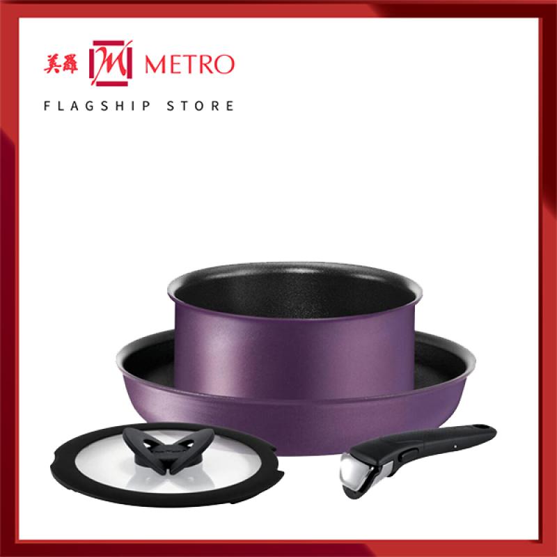 Tefal Ingenio 4pc Set Purple Velvet Titanium Pro (Made In France) L69090 Singapore