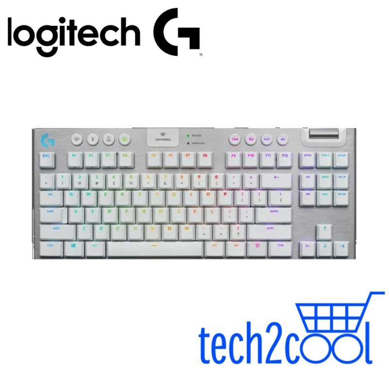 Logitech G915 TKL White GL Tactile Lightspeed Wireless Gaming Mechanical Keyboard Singapore