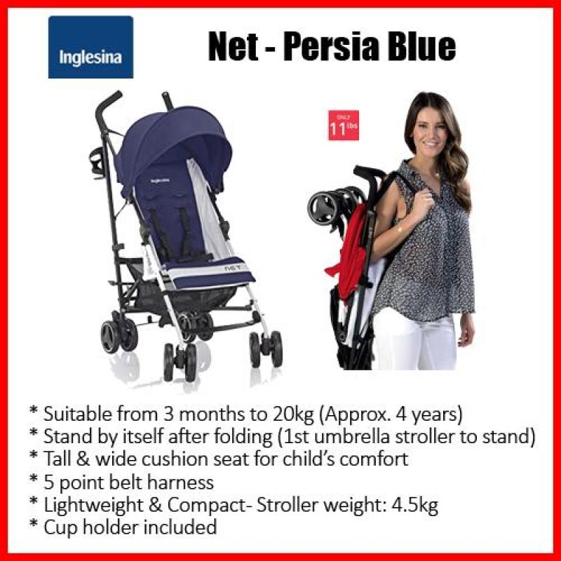 Inglesina Net (Persia - Blue)*3months to20kg*self-standing*4.5kgONLY*SUPER LIGHTWEIGHT*FREE Cuphold Singapore
