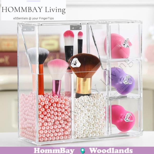 Buy HOMMBAY Living  Makeup Make up Acrylic Clear Transparent Lipstick Cosmetic Brush Brushes Jewellery Jewelry Earrings Bracelets Rings Organiser Organizer Drawer Storage Box Holder I Large Brush Organizer 2C3D (Purchase Pearls if Required) Singapore