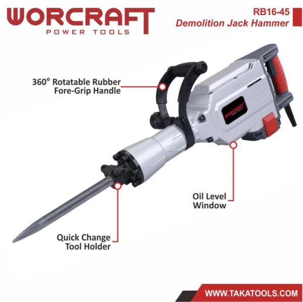 Worcraft Electric Demolition Jack Hammer