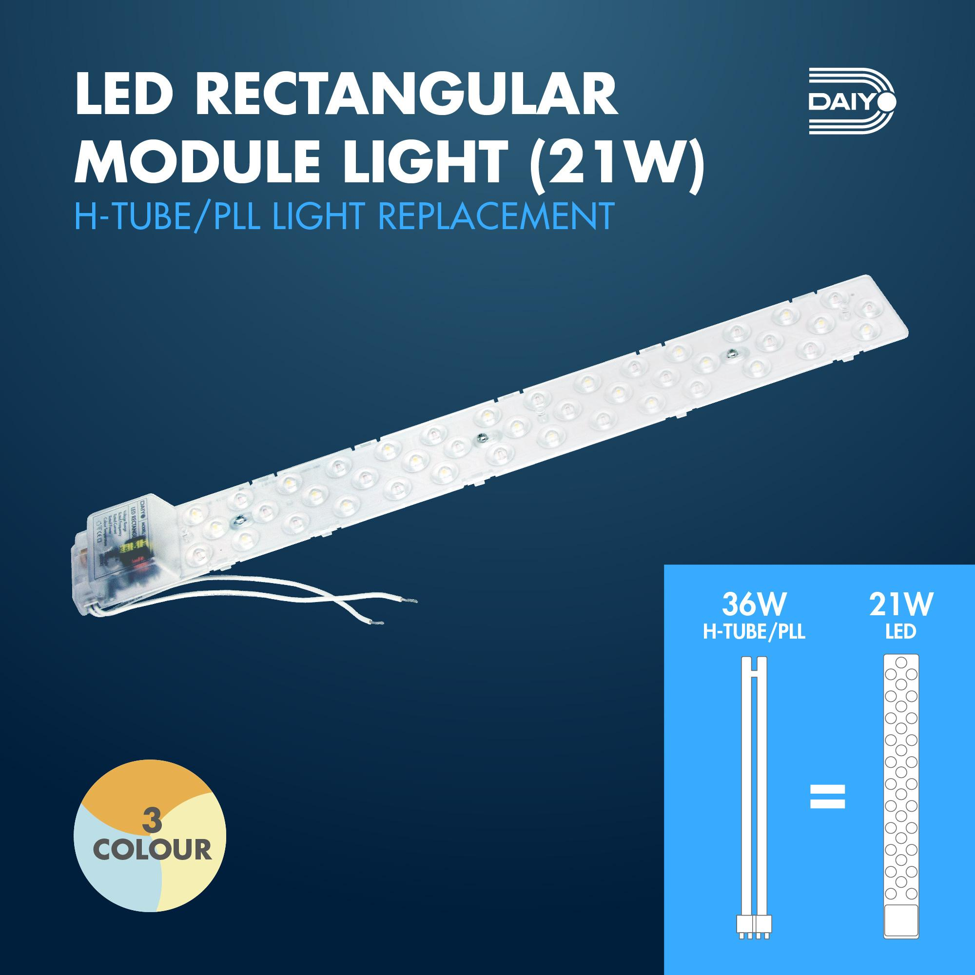 21W LED Rectangle Module Light (3 Colours)
