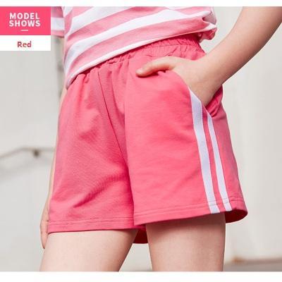 Baby Kids Boys Girls Childrens Summer Cotton Sports Shorts Red.