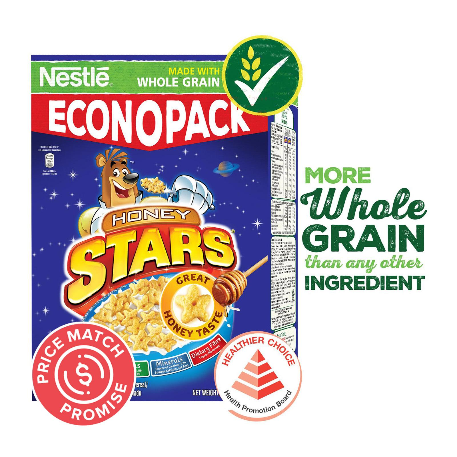 NESTLE HONEY STARS Econo Cereal With Whole Grain