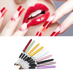 For Sale 10 Pcs Professional Nail Art Design Polish Dotting Painting Drawing Brush Pen Liner Set Nail Beauty Tool For Acrylic Uv Gel Drawing Painting Random Color Intl