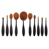 Buy 10 X Makeup Oval Brushes Online