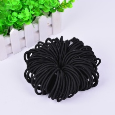 100pcs Women Elastic Hair Ties Band Ropes Ring Ponytail Holder Accessories Black - Intl By Coconie.