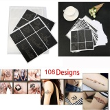 Where Can You Buy 108 Designs Temporary Tattoo Stencils Book Template Tattoo Model For Body Art Intl
