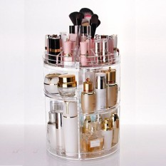 Price Comparisons For 122395111819 3 Tier Makeup Organizer Storage Holder Jewelry Display 360° Rotating Box Case Y1 Intl