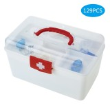 Discount 129Pcs All Purpose First Aid Kits Box For Home Car Outdoor Family Emergency Medicine Storage Box Organizer Set Fda Approved Intl Not Specified China