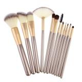 Discount 12Pcs Makeup Brush Set With Leather Bag Intl Intl Hong Kong Sar China