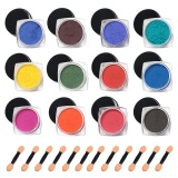 Shop For 12Pcs Portable Thermochromic Pigment Color Change Nail Powder 12 Different Style Temperature Gradient Manicure Nail Art Decoration With 12Pcs Applying Stick 1 18 X 63Inches Intl