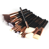 New 15Pcs Makeup Brushes Set Black Rose Gold