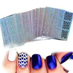 1set Diy Nail Vinyls 24 Syles Hollow Irregular Stencils Stamp Nail Art Diy Manicure Sticker Laser - Intl By Yidea Hongkong.