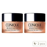 2 X Clinique All About Eyes Rich 5Oz 15Ml Intl Best Price