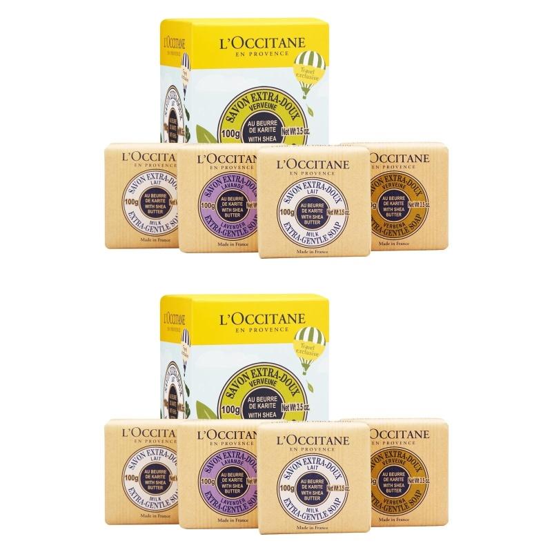 Buy 2 x LOccitane Shea Butter Extra-Gentle Soap Quartet 1set, 4pcs - intl Singapore