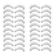 20 Pairs False Eyelashes Fake Eye Lashes Makeup Cosmetic For Wedding Cosplay Halloween Christmas Dance Party Ball - Intl By Stoneky.