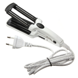 Buy Cheap 200V 3 Barrel Ceramic Hair Curling Iron Tong Crimper Curler Waving Wand Roller White Intl