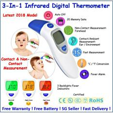 Buy 2018 Latest Eft 161 ♥ Digital Infrared Thermometer ♥ Contact Non Contact Three Backlight Colors Online