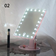 Sale 22 Led Touch Screen Makeup Mirror Tabletop Cosmetic Vanity Light Up Mirror Pink Intl China Cheap
