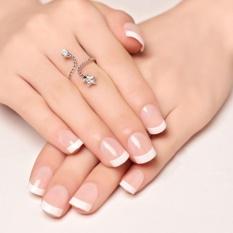 24pcs Natural French Short False Nails Acrylic Full Artificial Nails Faux Ongles - Intl By Doxiy