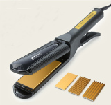 Price 3 In1 Change Boardelectric Hair Care Curler Roller Waver Straightener Curling Iron Ceramic Coating With Comb Gb Plugs Black Intl Oem China