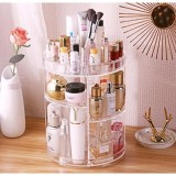 Price 3 Tier Makeup Organizer 360 Degree Rotating Cosmetic Storagedisplay Box Useful Make Up Rack Beauty Care Holder Intl Rainygirl China