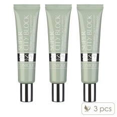 3 X Clinique Super City Block Oil-Free Daily Face Protector Spf 40 1.4oz, 40ml - Intl By Cosme-De.com.