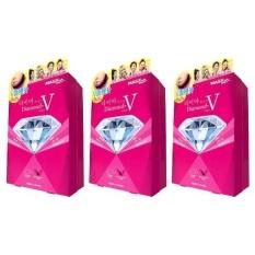 Compare Price 3 X Mask House Slimming Series Diamond V Fit Mask 1Box 6Pcs Intl Mask House On China