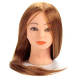 30 Real Human Hair 24 Training Head For Hairdressers Mannequin Head With Hair Gold Color Dummy For Sale Makeup Reviews