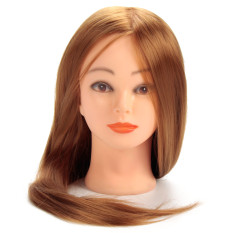 30 Real Human Hair 24 Training Head For Hairdressers Mannequin Head With Hair Gold Color Dummy For Sale Makeup Review
