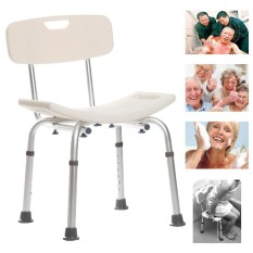 Review 300 Lb Elderly Medical Bath Tub Shower Seat Chair Bench Stool With Back Support Intl Not Specified On China