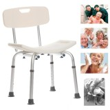 300 Lb Elderly Medical Bath Tub Shower Seat Chair Bench Stool With Back Support Intl On Line