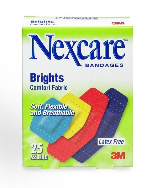 3m Nexcare Comfort Brights Fabric Bandages - Assorted 25s By 3m Official Store.