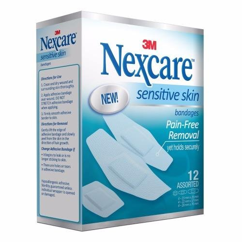3m Nexcare Sensitive Skin Bandages - 12pc/pack Assorted - Replace By Xd005516161 By 3m Official Store.