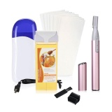 Best Deal 4 In 1 Roll On Refillable Depilatory Wax Heater Waxing Hair Removal Kit Tools Eu Plug Pink Intl