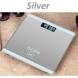 Retail Price 400Lb 180Kg Lcd Electronic Digital Tempered Glass Body Weight Scale Bathroom Sliver Intl