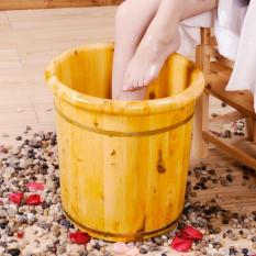 Best Rated 40Cmcedar Wood Foot Soak Busket 3 In 1 Cedar Wood Busket Cover Foot Reflexology