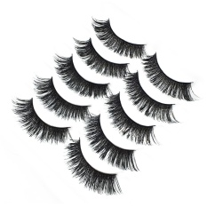 5 Pairs 3d Makeup Cosmetic Fake Eyelashes False Eye Lashes Extension For Wedding Cosplay Halloween Christmas Dance Party Ball - Intl By Stoneky.