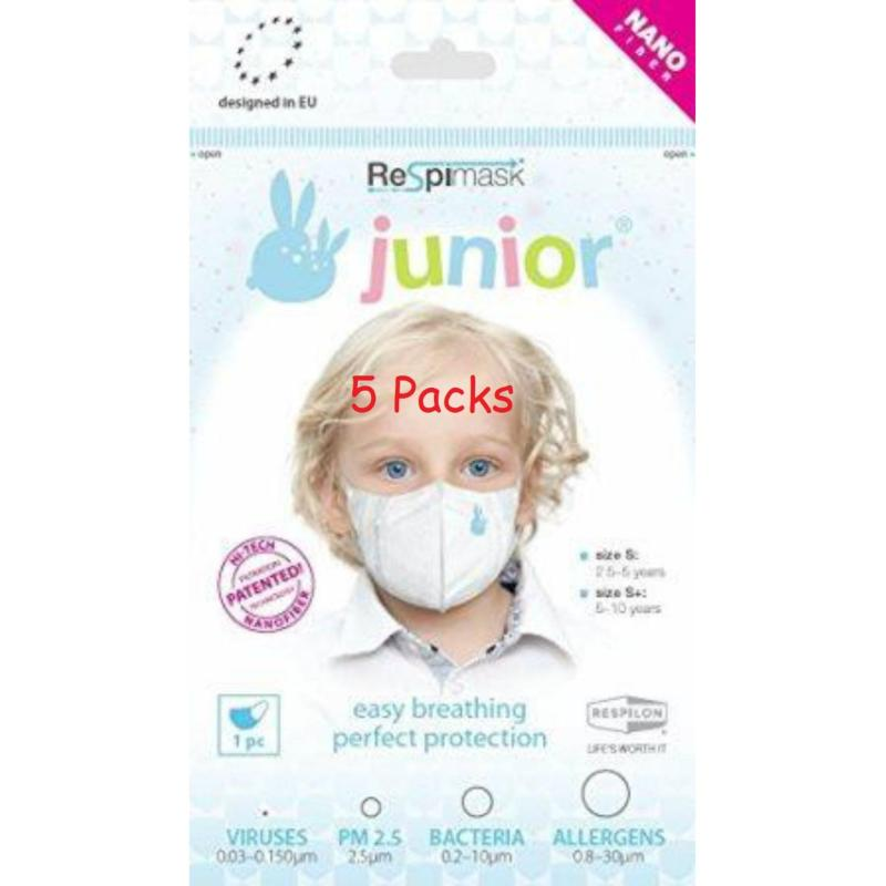Buy 5 Respimask Nano Membrane Face Mask for Children S, 2.5 to 5 years old Singapore