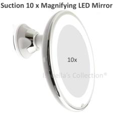 Retail 10X Magnifying Suction Mirror With Led Lighting Usb Cable No Battery Needed Free To Rotate
